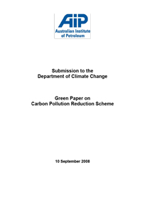 AIP Response to CPRS Green Paper