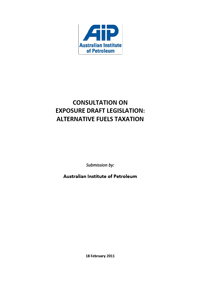 Consultation on Exposure Draft Legislation (Alternative Fuels Taxation)
