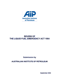 Submission on the Review of the LFE Act 1984
