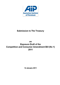 Submission to The Treasury on Exposure Draft of the Competition and Consumer Amendment Bill