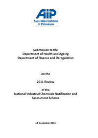 Submission to the 2011 Review of the National Industrial Chemicals Notification and Assessment Scheme