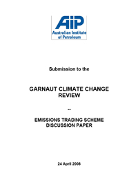 Submission to the Garnaut Inquiry - Emissions Trading Scheme Design