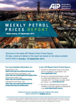 Weekly prices report