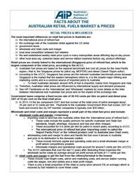 Facts About the Australian Retail Fuels Market & Prices