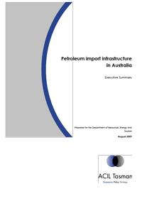 Petroleum Import Infrastructure in Australia