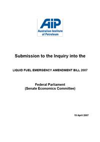 Submission to Senate Economics Cttee - LFE Review