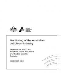 ACCC Formal Price Monitoring Report (December 2012) – Fifth Report