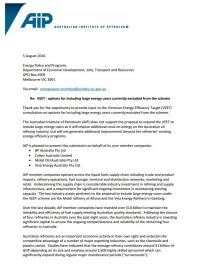 Submission on Victorian Energy Efficiency Target (VEET) Options to Include Large Energy Users