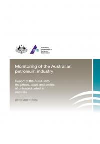 ACCC Formal Price Monitoring Report (December 2009) – Second Report
