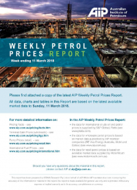 Weekly Petrol Prices Report - 11 March
