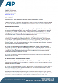 AIP Letter to Productivity Commission - Airports Inquiry (Public)